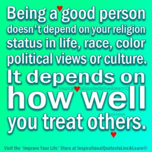 Being A Good Person