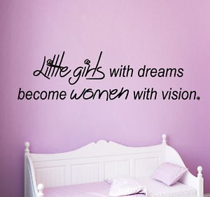 Wall Decals Quote Little Girls Vinyl Sticker Women Decal Art Nursery ...