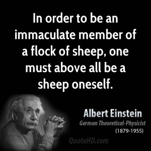In order to be an immaculate member of a flock of sheep, one must ...