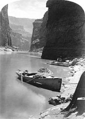 John Wesley Powell 's second expedition on a noon-day rest in Marble ...