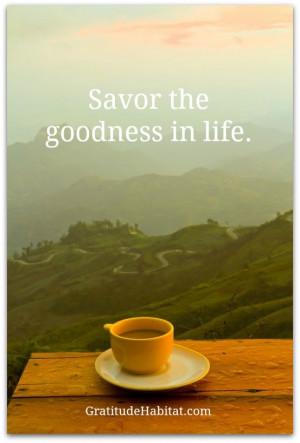 ... good cup of coffee and a quiet morning. www.GratitudeHabitat.com