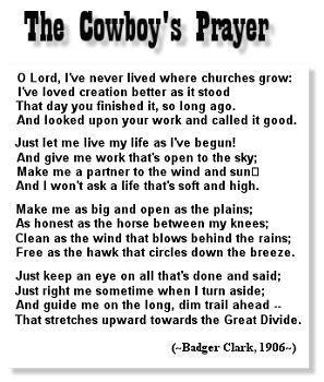 Cowboy Prayer (Badger Clark, 1906)