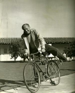 Jack Benny on a bike