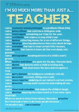 POSTER: I'm So Much More Than Just A Teacher!