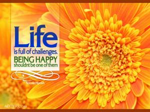 Happy Orange Flower Wallpaper Desktop Background