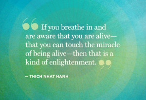 ... alive then that is a kind of enlightenment thich nhat hanh # quote