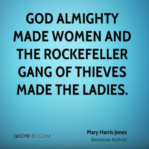 Mary Harris Jones Women Quotes