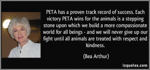 PETA has a proven track record of success. Each victory PETA wins for ...