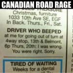 Road Rage Begins Early…