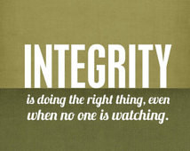 Inspirational Character Integrity P oster - Graduation Gift CS Lewis ...