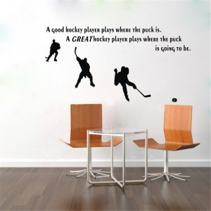 Ice Hockey With Inspirational Words For Wall Decals modern-kids-wall ...
