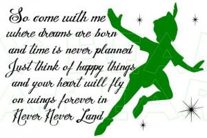 Printable DIY Peter Pan Never Land Iron on transfer framed art ...