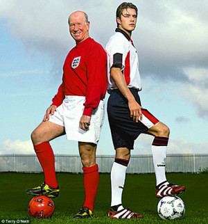 Sir Bobby Charlton & David Beckham