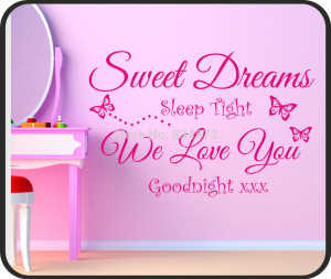 Hot Sweet Dreams Baby Childrens Quote Wall Art Sticker Decal DIY Home ...