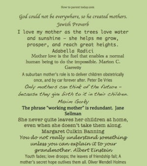 Inspirational Quotes on Motherhood