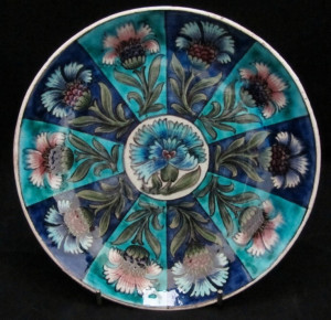 William De Morgan Dish Decorated with Stylised Flowers by Charles ...