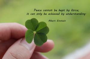 MANNAM Peace Quotes] Albert Einstein - peace quote