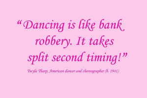 Great quote from Twyla Tharp.