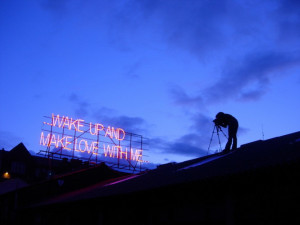 Neon quotes about love