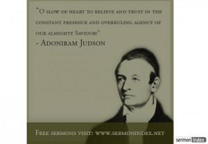 Adoniram Judson Quote