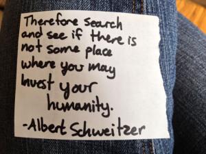 quotes Albert Schweitzer