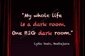 Tim Burton Beetlejuice Lydia Deetz Goth by JenniferRoseGallery, $20.00