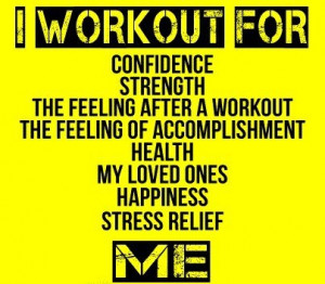 workout for confidence, strength, the feeling after I workout, the ...