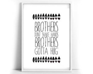 ... brothers gotta hug tribal print in black and white twin boys twins