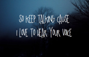 love to hear your voice.