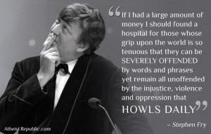 Stephen Fry on Taking Offense