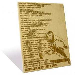 Nike's Theory of Competition quote etched on a by EngraveDotIn, $45.00