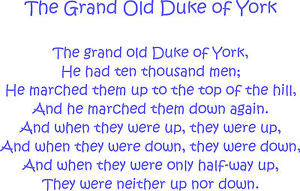 ... DUKE OF YORK WALL ART CHILDREN'S NURSERY RHYME 100x64CM!GIFT! BIRTHDAY