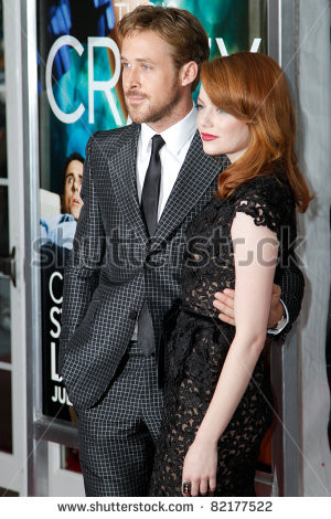 NEW YORK - JULY 19: Ryan Gosling and Emma Stone attend the world movie ...