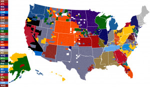 40 maps and charts that explain sports in America