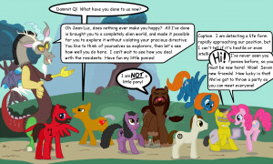 Cartoon - Collage Star Trek Discord Q Pinkie Pie My Little Pony ...