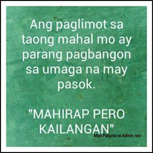Tagalog sad love quotes paglimot sa mahal tagalog love quotes