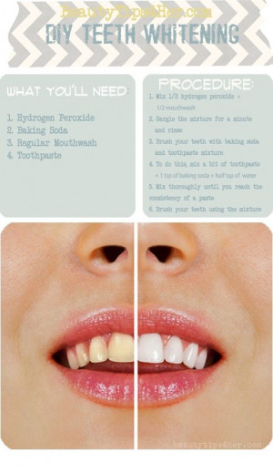 Teeth whitening...peroxide, baking soda, ... | Repurposed and Upcycled