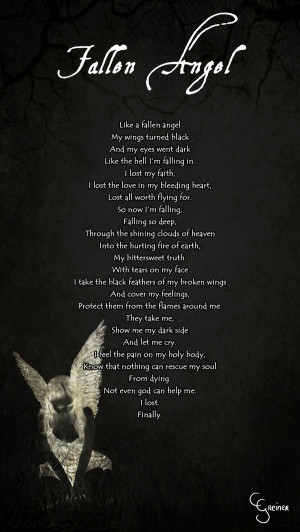 Fallen Angel Poem by carpenoctem410