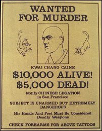 Kung Fu wanted poster