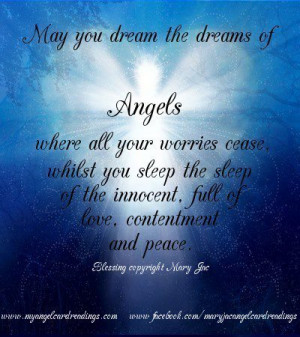 ... Sleep The Sleep Of The Innocent, Full Of Love, Contentment And Peace