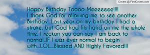 Happy Birthday Toooo Meeeeeee!!!!I Profile Facebook Covers