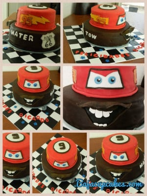 Ligthning mcqeen and tow mater cake