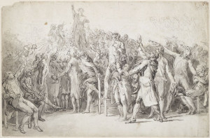 the oath of the tennis court by jacques louis david