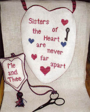 Pockets of Friendship-Sisters - Cross Stitch Pattern