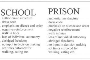 Funny photos funny school vs prison comparison