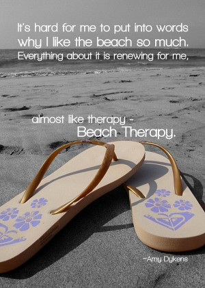 Beach Therapy Quote Photograph