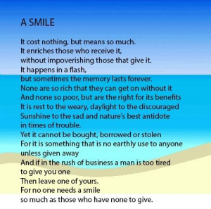 Inspirational poems, quotes, sayings, smile