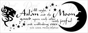 ... Joyful and Unblinking Eyes, Aslan, Narnia, C.S. Lewis, Prince Caspian