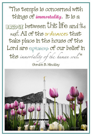 Quotes On LDS Temples