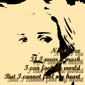 Reflection - Christina Aguilera Song Lyric Quote in Text Image